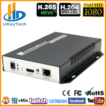 DHL Free Shipping HEVC HDMI Encoder IPTV H.265 /H.264 Hardware HD Video To IP Encoder Support HTTP, RTSP, RTMP, UDP, ONVIF