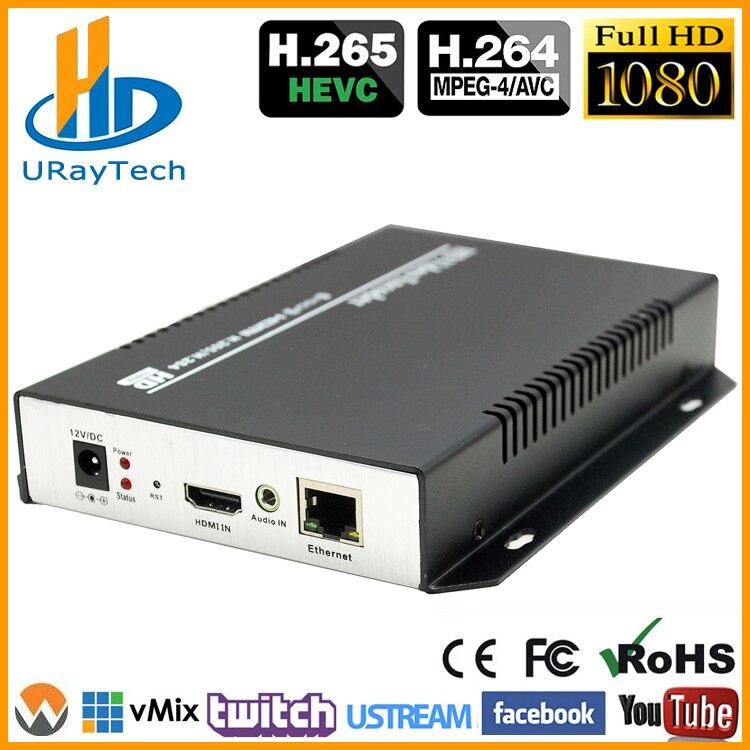 DHL envío gratis HEVC HDMI Encoder IPTV H.265/H.264 Hardware de Video HD IP codificador apoyo HTTP el zoom RTMP, UDP ONVIF-in Equipos de teledifusión y radiodifusión from Productos electrónicos    1