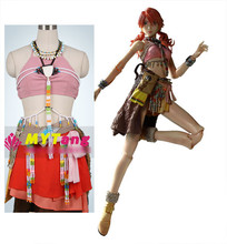 Anime Final Fantasy XIII Vanille Dia Oerba Cosplay Costume Sexy girl party dress Halloween Costume for women free shipping
