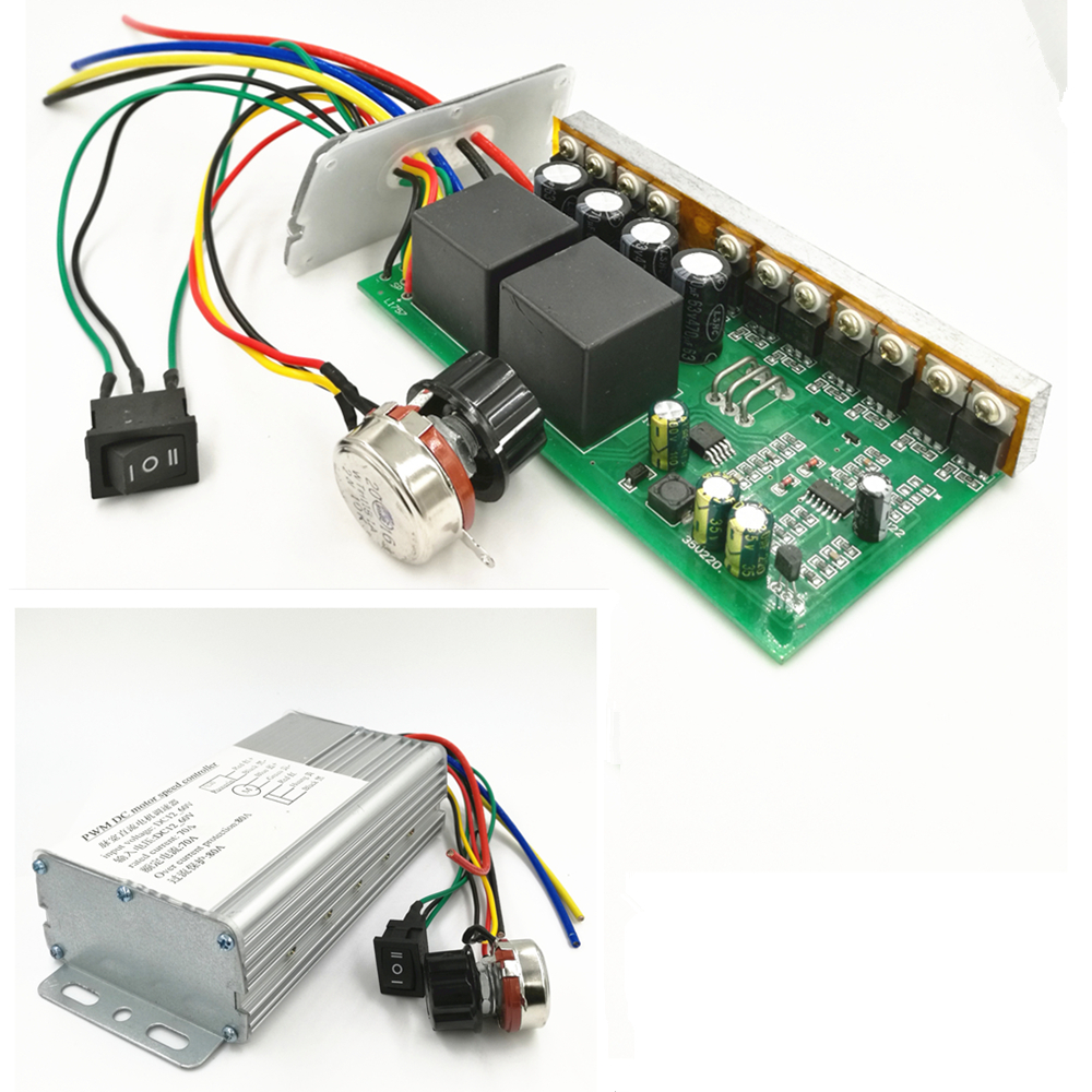 Industrial High Power Pwm Dc Motor Speed Controller 12v 24v 36v 48v 4000w Dc Motor Speed