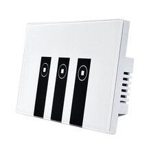 WiFi Smart Alexa Light Switch 3 Gang Touch Wall Plate Light Switch Panel