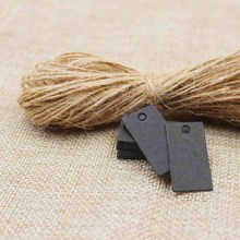3*1.50cm Hand Made Small Gift Tags Kraft/black Jewelry Blank Package Hang Tag 50PCS Tags+50PCS Strings Accept custom logo
