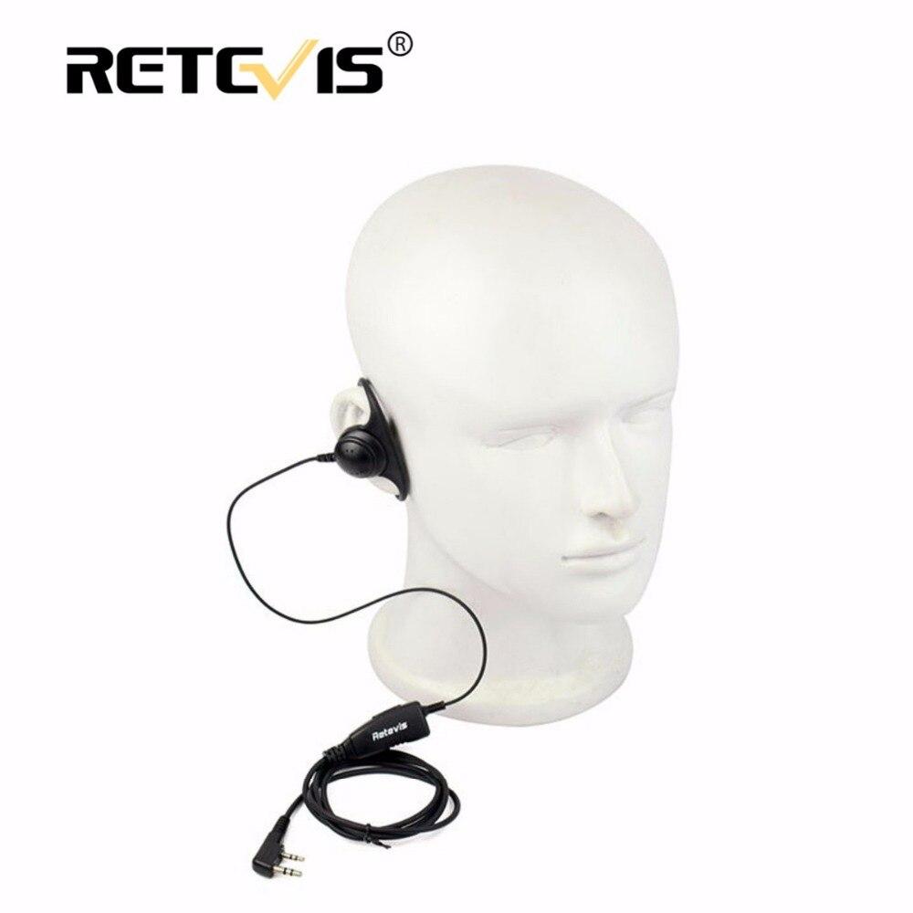 D form Weichen Ohr Haken Hörmuschel 2Pin PTT Mic Headset Für Kenwood für Baofeng UV-5R 888 S Retevis H777 RT5 RT5R Für TYT für Puxing