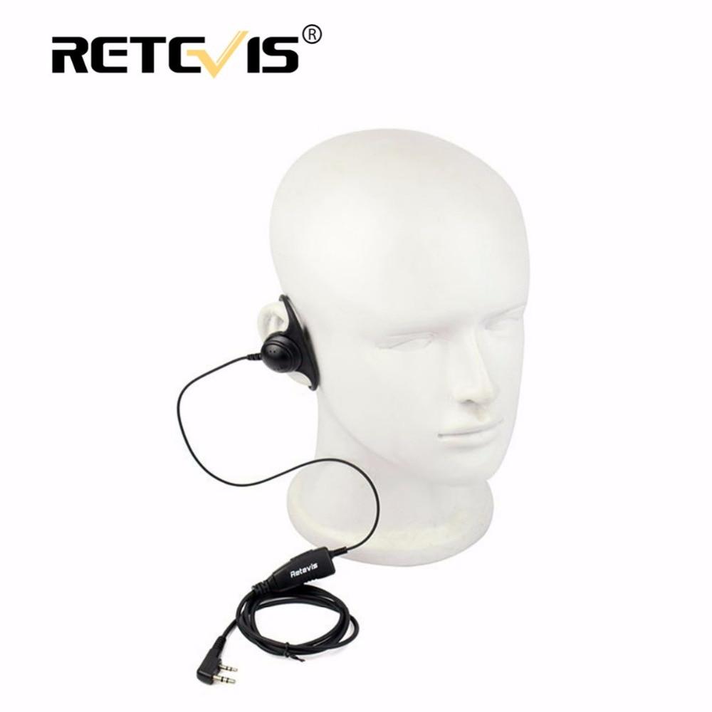 bilder für D form Weichen Ohr Haken Hörmuschel 2Pin PTT Mic Headset Für Kenwood für Baofeng UV-5R 888 S Retevis H777 RT5 RT5R Für TYT für Puxing