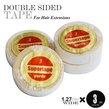 12 Uds 1,27 cm * 3 yardas Cinta de soporte frontal de encaje la cinta adhesiva resistente al agua más fuerte para la extensión del pelo de la cinta de la peluca