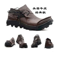 Sapatos casuais Primeira camada de Couro sapatos De Couro Mens Sapatos De Luxo Homens Designer Preto Sapato 2019 Homens sapatos Moda motocicleta