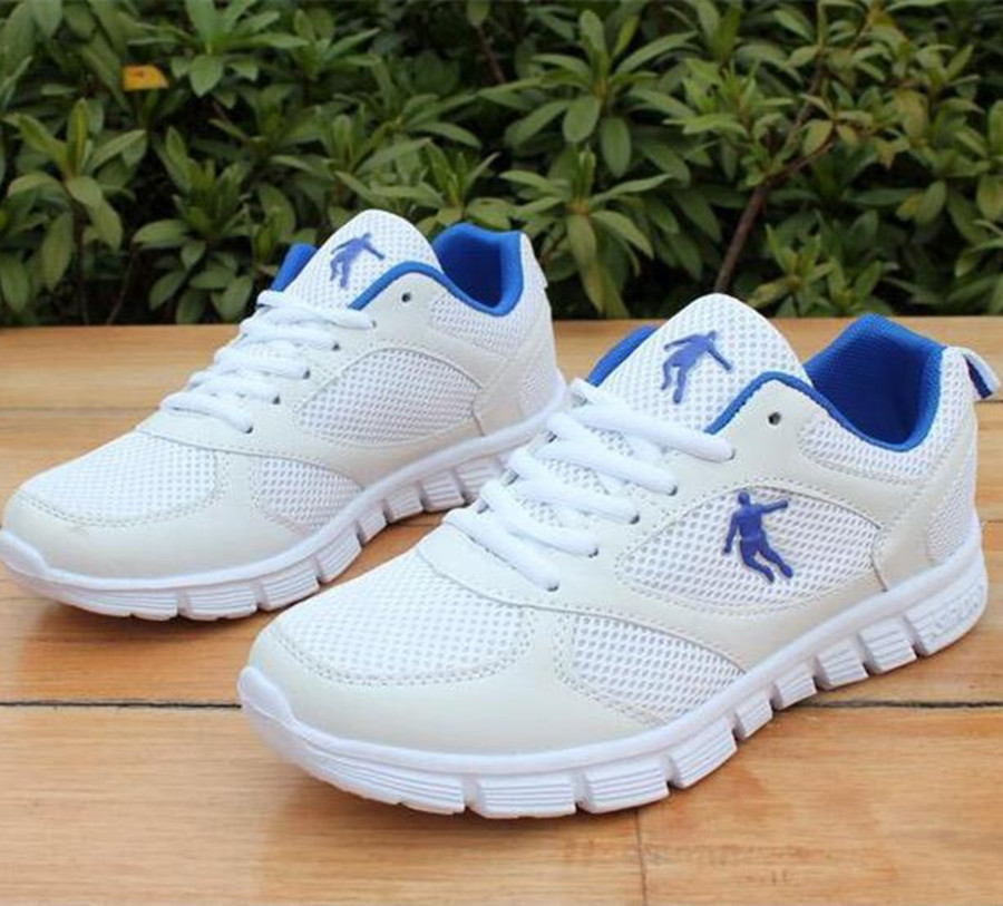 2017 New Listing Hot Sales Fashion Summer Breathable Mesh Men Casual Shoes Mens Lovers Shoes Increase Size 36-46