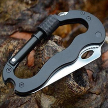 UNeefull NEW 5 In 1 Multifunctional Folding Knife Multi Carabiner Hanging Buckle