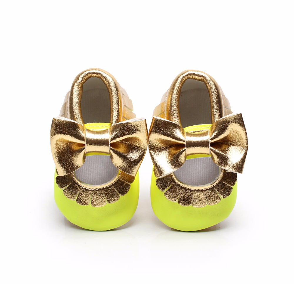 Fashion PU Leather Baby Girls Princess Shoes Floral Bowknot Moccasins Soft Moccs First Walkers 0-2 Years