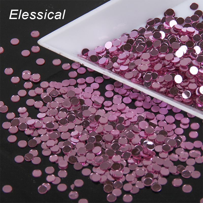 10g/piece 2mm Shiny PVC Nail Glitter Sequins Micro Round Nail Art Powder Dust Beauty Women Decoration Nail Supply WY644
