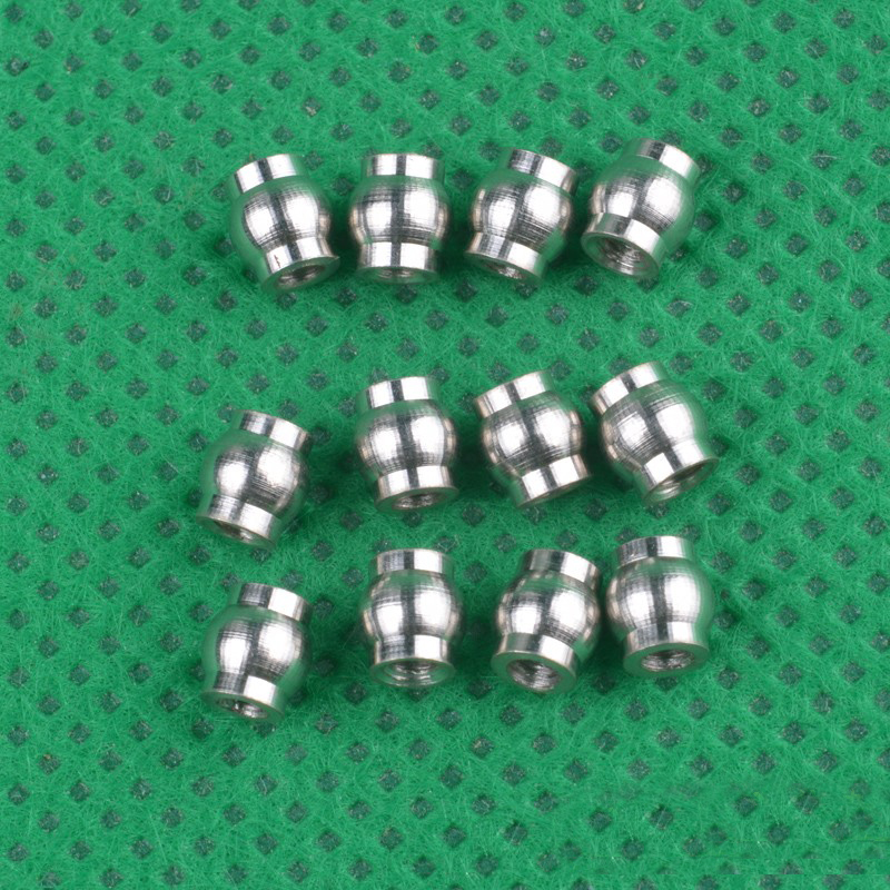 12PCS <font><b>HBX</b></font> 1/24 Mini Climbing Car 3.8*4 Ball Head <font><b>2098B</b></font> Metal Ball Joint Tie Rod End for 1:24 Remote Control RC Cars Spare <font><b>Parts</b></font> image