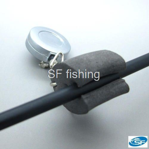 fly fishing rod clip with zinger