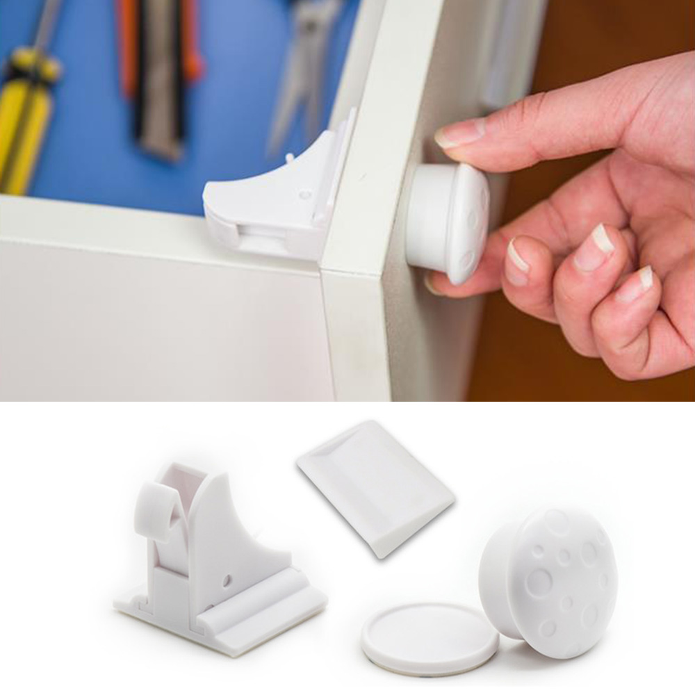 Magnetic Cabinet Locks Child Proof Cupboards Drawer Invisible Kids Baby Safety