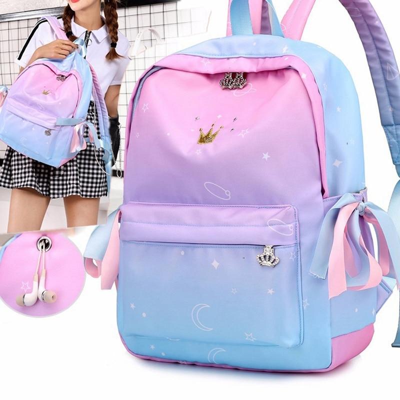 ABDB-Orthopedic Backpacks School Children Schoolbags For Girls Primary School Book Bag School Bags Printing Backpack