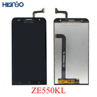 Heinuo For ASUS ZenFone 2 Laser ZE550KL Z00LD LCD Display Panel Touch Screen Digitizer Glass Sensor+Frame Assembly 3M Tape+Tools
