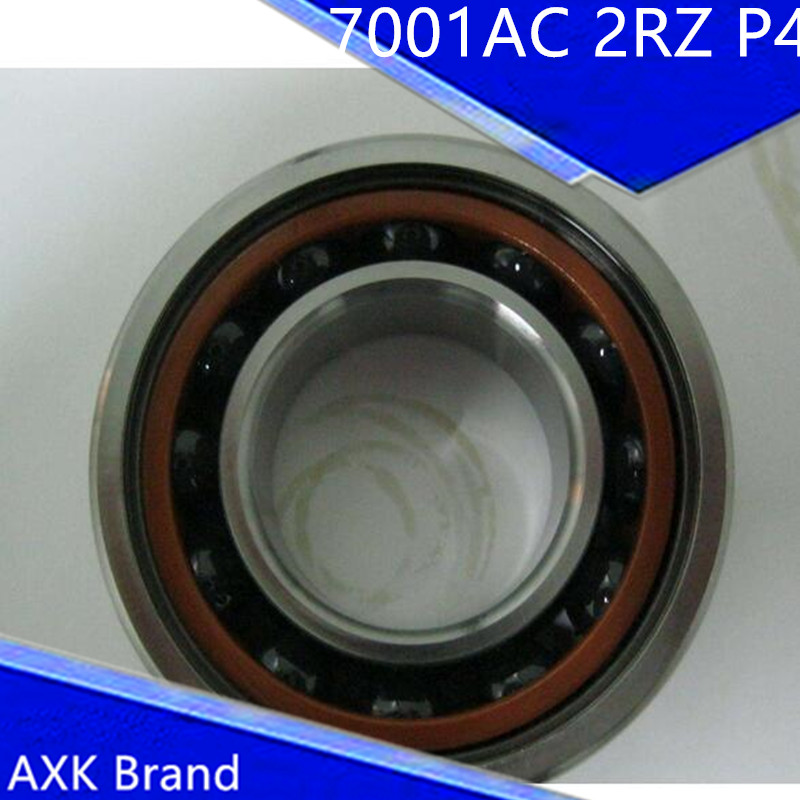 7001 12x28x8 AXK Sealed Angular Contact Bearings Speed Spindle Bearings CNC ABEC-7 7001 7001c 2rz hq1 p4 dta 12x28x8 2 sealed angular contact bearings speed spindle bearings cnc abec 7 si3n4 ceramic ball