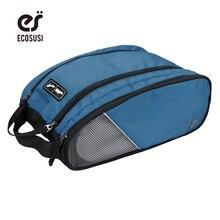 Ecosusi Новый Дорожная сумка портативный водонепроницаемая обувь сумка карман Упаковка Кубики ручка нейлоновая сумка на молнии для путешествий
