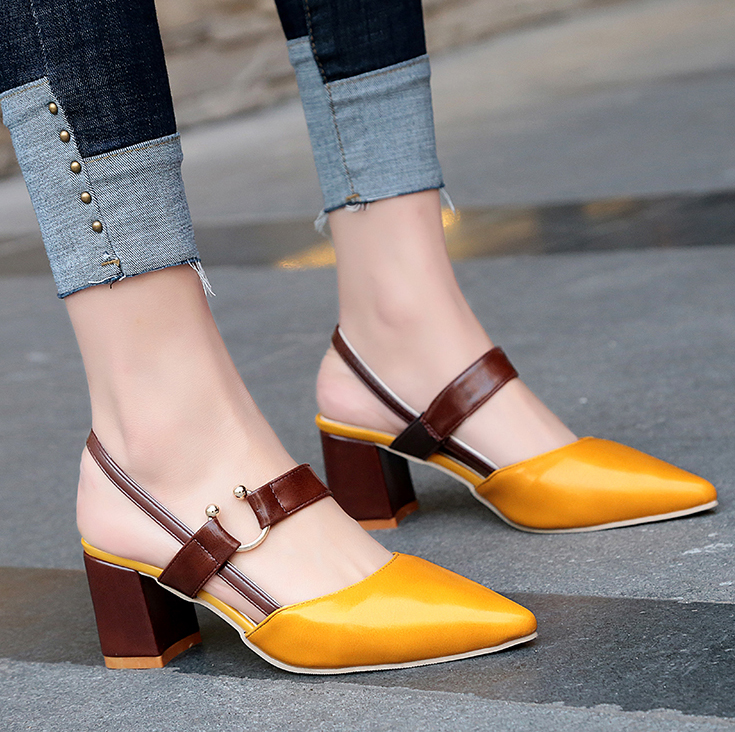 3bb5fa2d96dd 2018 marke frauen sandalen high heels neue design schnalle 7 cm bequem  pumpen frauen schuhe sommer