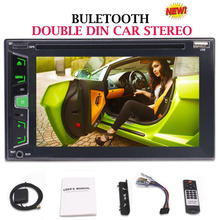 """Double Din In-Dash 6.2"""" Car DVD Player GPS Navigation Auto Stereo AM/FM Radio RDS SD/USB/Bluetooth/1080P/Steering Wheel Control"""