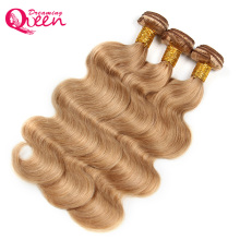 Dreaming Queen Hair Body Wave Honey Blonde Brazilian Non Remy Human Hair Weave #27 Color 100% Human Hair Extension Weave 1 Piece