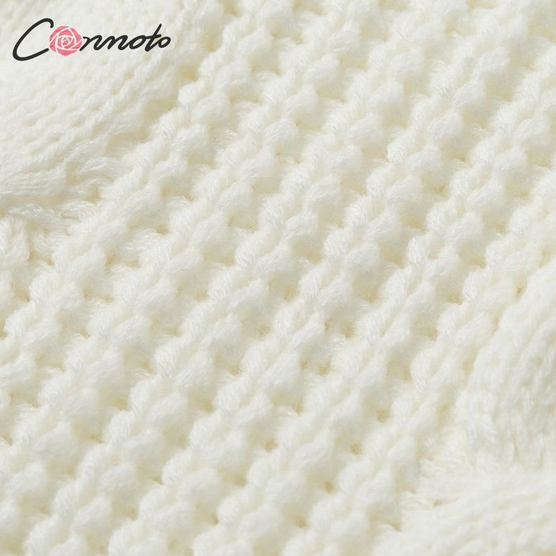 Conmoto Solid Deep Gray Casual Women Sweaters 19 Winter Turtleneck Knitwear Sweater Oversized Tassel Knitted Pullovers Jumpers 20
