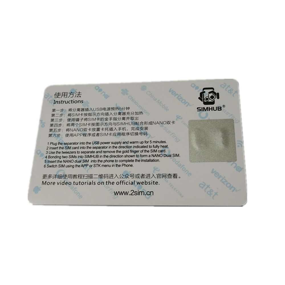 Double SIM HUB Dual SIM Card Adapter for iphone 5 6 7P 8 Xs max Use Two  Nano-SIM