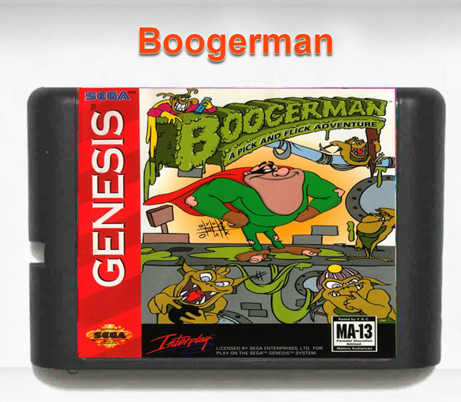 Boogerman A Pick And Flick Adventure 16 bit MD Game Card for Mega Drive for Genesis EU/JP Shell
