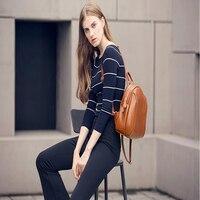 2018 Для женщин кожаный рюкзак монстр моды Дамы школьный для девочек подростков женский милый рюкзак опрятный Повседневное рюкзак