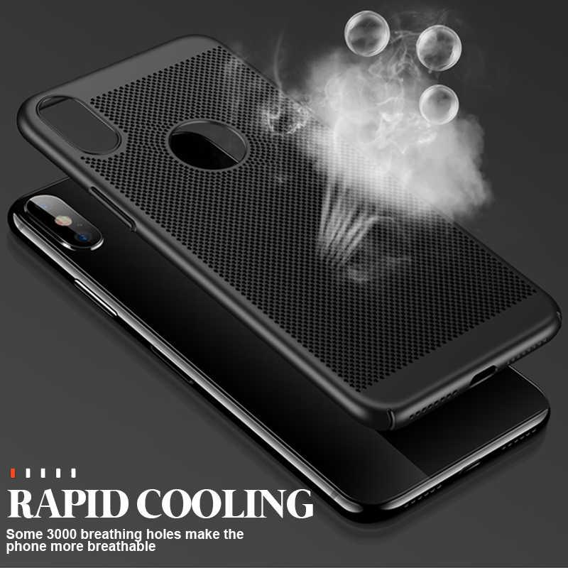 ZNP Ультратонкий чехол для телефона чехол для iPhone 6 6s 7 8 Plus XR теплоотвод Жесткий Чехол для ПК IPhone X XS Max 5 5S SE задняя крышка Coque