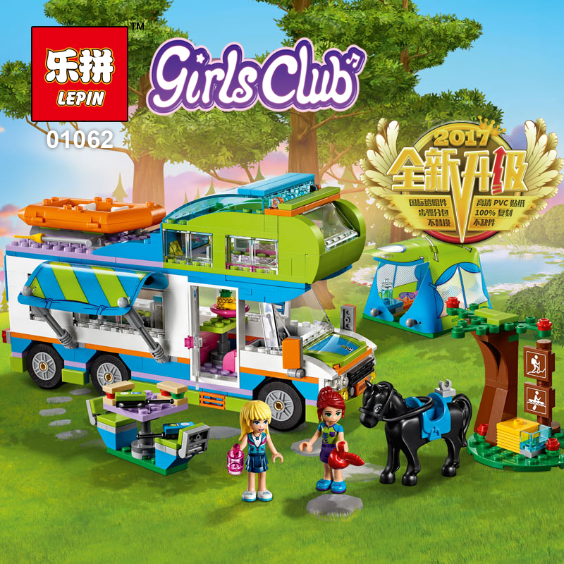 2018 Lepin 01062 Good Friends Girl Series The Motorhome Building Blocks Bricks Funny Toys As Children LegoINGlys friends 41339 50pcs starwars superhero building the roman soldiers blocks bricks friends for girl boy jenga house games children toys