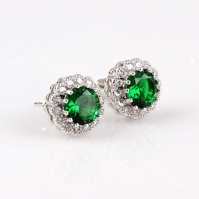 New Arrival Stud Earrings For Women Fashion 925 Sterling Silver Jewelry Earing With Ruby Stones Engagement Party Accessories