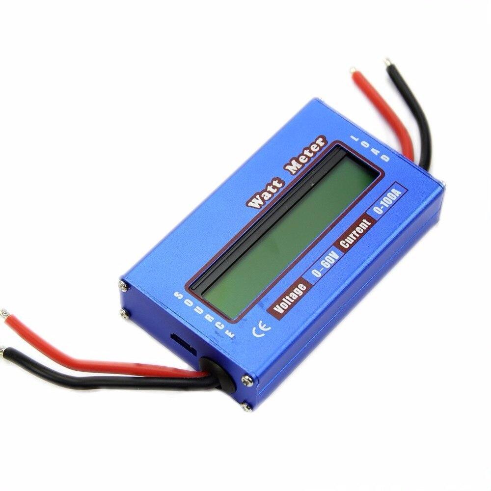 ЖК-дисплей простой DC RC Мощность Анализатор Ватт Вольт Ампер метр 60 В/100A Солнечный в ...
