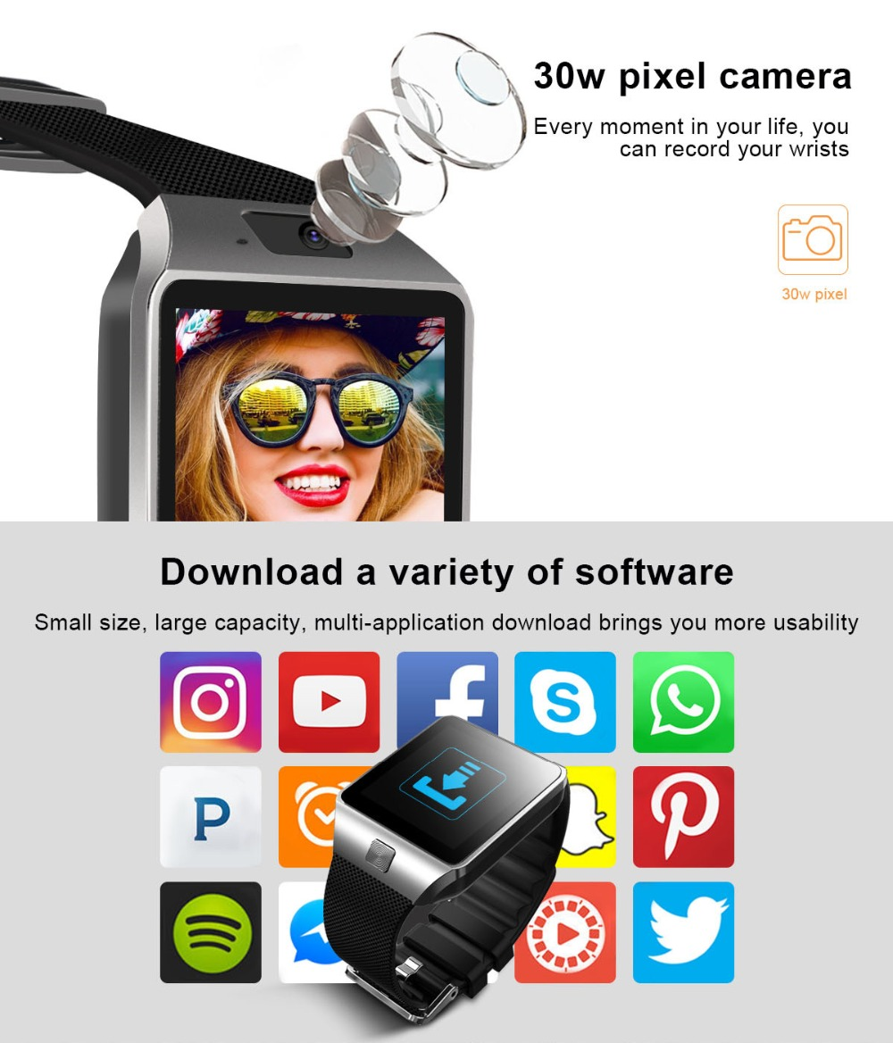 TORNTISC QW09 Unisex 3G Smart Watch For Android Phone With WIFI Real-Pedometer And Calling Benefit 3
