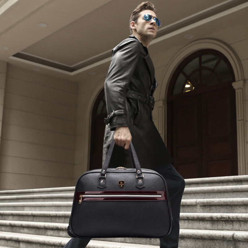 Travel bag portable large capacity trolley bag travel bag luggage handbag male female light barrels travel bag the new europe and america portable shoulder bag handbag large capacity portable shoulder bag business travel luggage bag