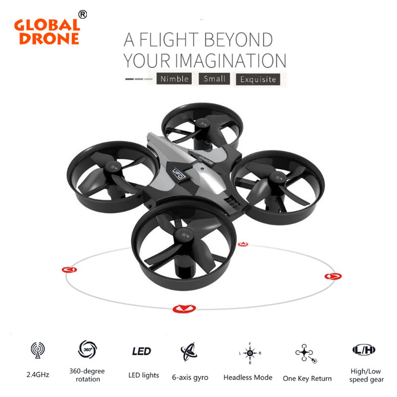 Global Drone Mini Drone 6 Axis Gyro 2.4G 4CH Micro Drone RC Helicopter VS JJRC H36 Headless Mode Pocket Quadcopter Dron jjrc h12c 6 axis headless mode 2 4g 4ch rc quadcopter 360 degree rollover ufo helicopter professional drone dron 5 0mp hd camera