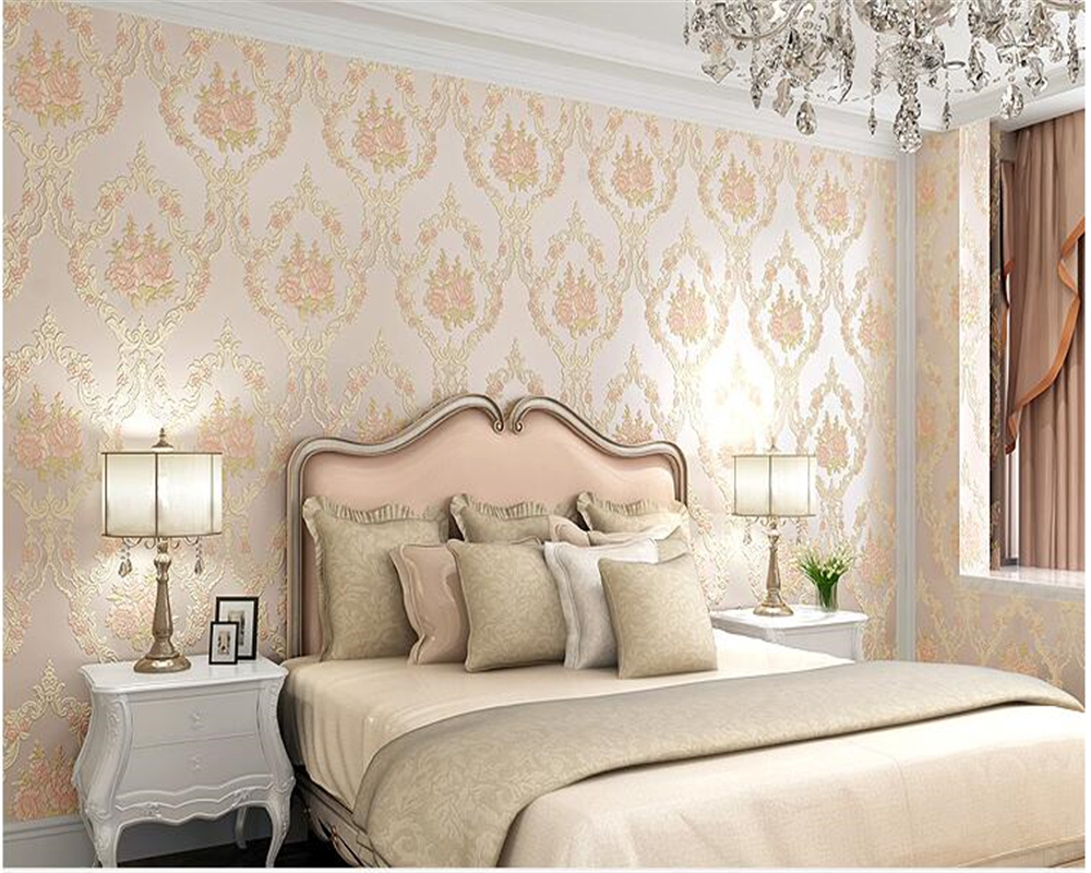 beibehang Three dimensional relief co extruded garden American nonwoven wall paper Warm bedroom shop background 3d wallpaper