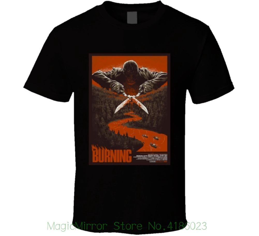 The Burning Cult Horror Movie T Shirt New Short Sleeve Round Collar Mens T Shirts Fashion 2018