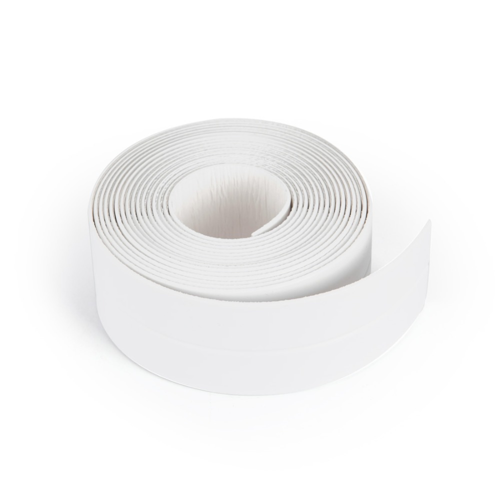 ANHO 3.35M Sealing Strip Kitchen Corner Line Sink Anti-fouling Dustproof Waterproof Bath Wall Adhesive Tape Self-adhesive White soft self adhesive door and window gap seal kitchen sink waterproof and mildew tape beautiful seam corner line window accessorie