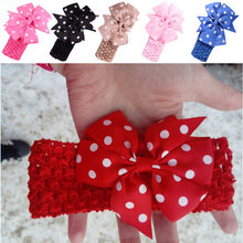 Girls Headbands Newly Design Cute Kids Flower Head Wear Hair May11 Drop Shipping Sunward(China)
