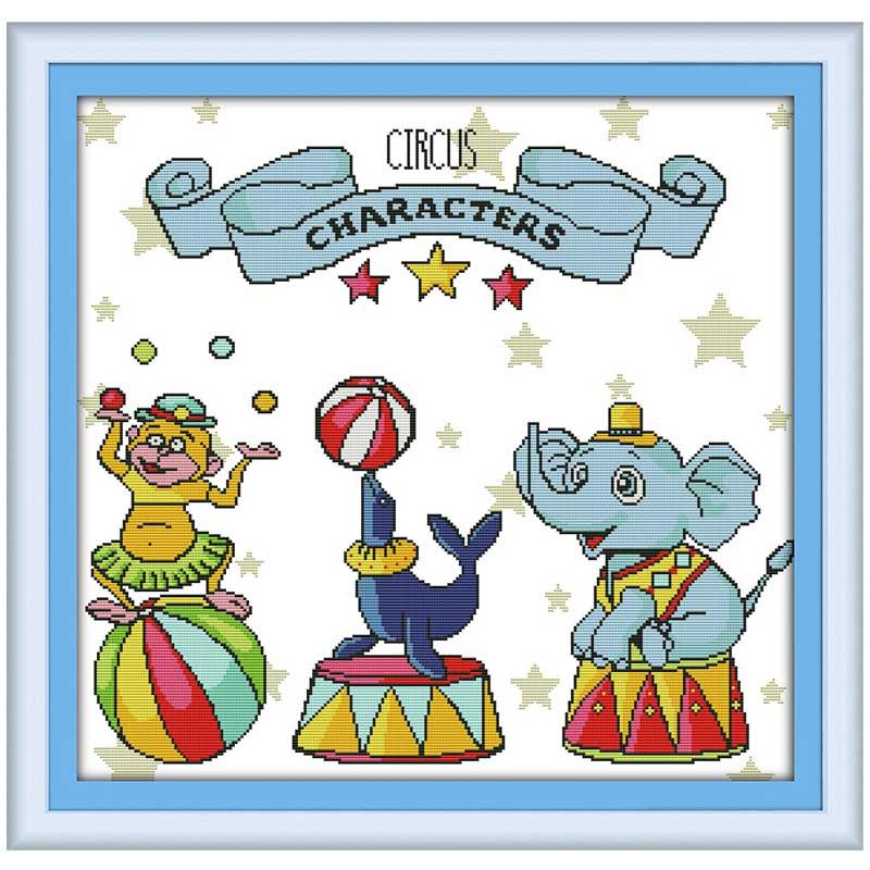 Вышивка цирк