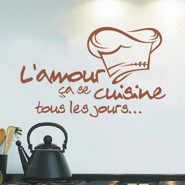 C113 Rimovibile Cucina Adesivi Francese Da Cucina Adesivi per ...