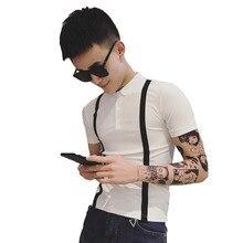 2019 summer social guy short-sleeved base t-shirt Korean version of the trend tight groom married T-shirt male цена