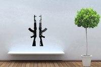 Arma Decal Posters AK47 Rifle decalques em Parede de adesivos de vinil arte decalques adesivo de Parede decoração Quadro Pegatina