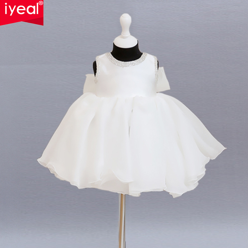 IYEAL Toddler Glitz Pageant Dresses For Wedding 2017 First Communion Dresses Pageant Ball Gowns Flower Girl vestidos de comunion 2016 one shoulder ball gowns first communion dress flower girl dresses junior kid glitz pageant dress for wedding and party
