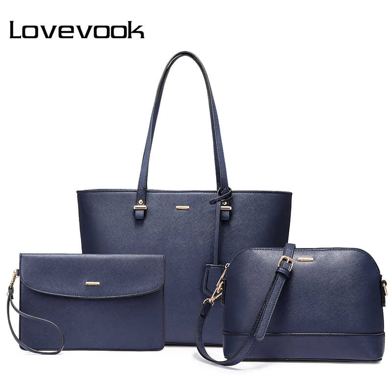 84eac049d26 LOVEVOOK 3 pcs set shoulder corssobody bags for women handbags and purses  female messenger bags
