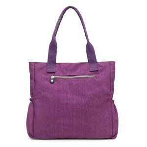 Image 4 - Женская Высококачественная нейлоновая сумка, повседневная большая сумка на плечо, модная вместительная сумка, брендовая дизайнерская Водонепроницаемая большая сумка L81