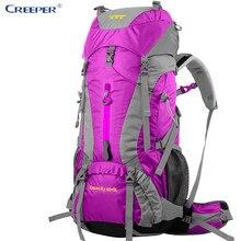 Creeper Outdoor Sport Bag Camping Hiking Backpacks Waterproof Daypacks Trekking Bag Rucksack Military Green 65 L