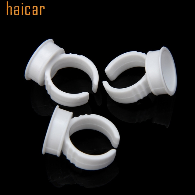 HAICAR Love Beauty Female  50pcs Microblading Pigment Glue Rings Tattoo Ink Holder For Half Permanent 161027 Drop Shipping 2