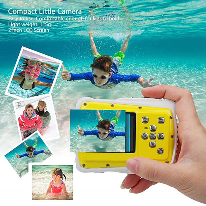 Wasserdichte <font><b>Digital</b></font> Kamera für Kinder 12MP HD Unterwasser Action Kamera Camcorder mit 2,0 zoll LCD Display 8x <font><b>Digital</b></font> Zoom image