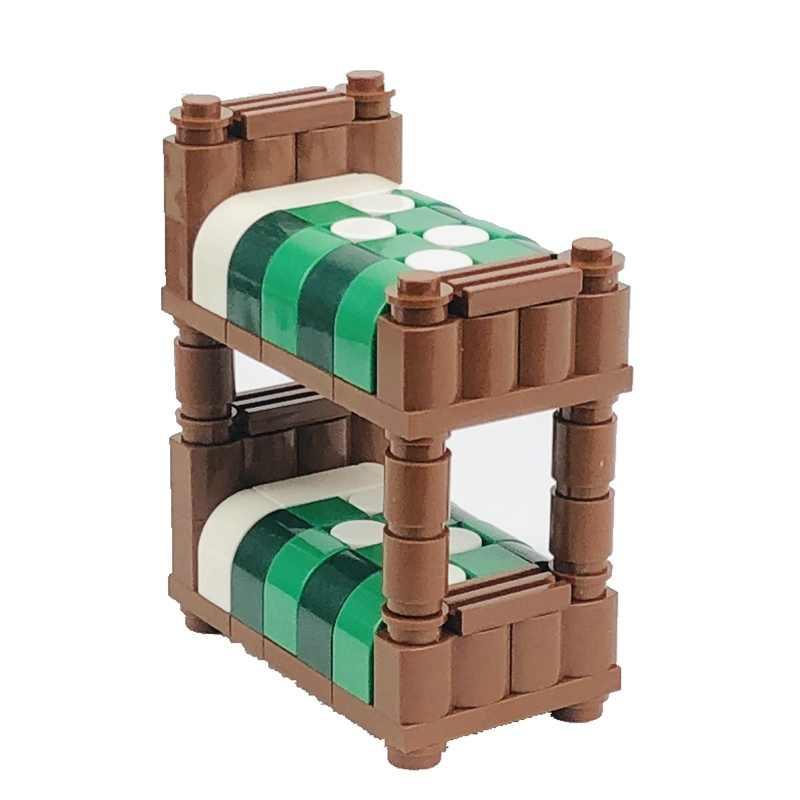Creator City kanapa z funkcją spania fortepian biurko komputerowe stacja samochodowa sceny figurki klocki do budowy MOC akcesoria części zabawka dla dziecka zestaw miast